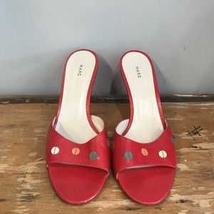 Marc Jacobs Red Polka Dot Heels